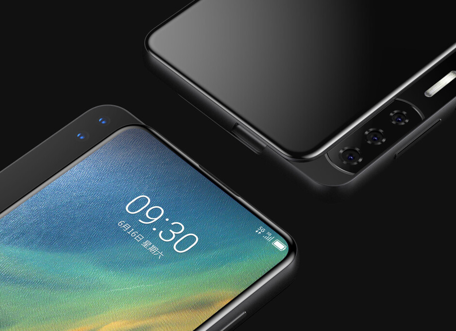 Another render of the ZTE Axon S - Renders show two new ZTE concept phones that are practically all screen