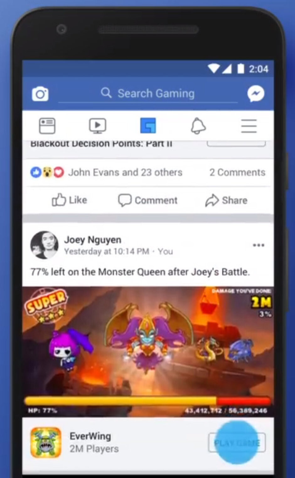 Facebook bets big on entertainment, adds new tab on its mobile app