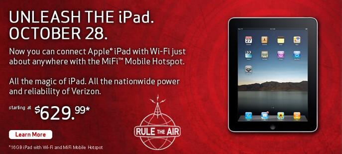 Tomorrow is Apple iPad release day for Verizon