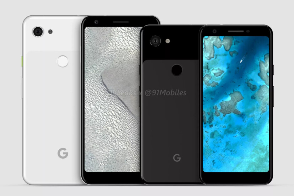 Google Pixel 3a and Pixel 3a XL CAD-based renders - Google's midrange Pixel 3a & 3a XL have just been detailed extensively