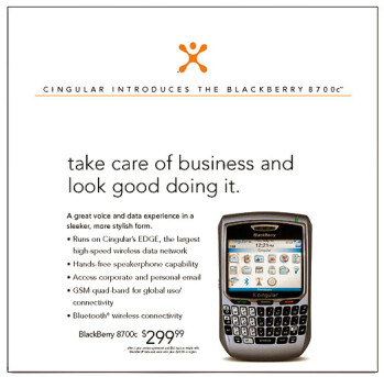 Rim 8700 Electron to be launched by Cingular