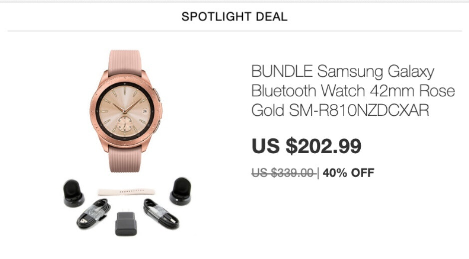 Samsung Galaxy Watch scores massive discount in eBay spotlight deal with warranty