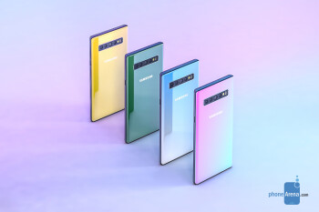 Samsung Galaxy Note 10 concept render based on leaked information