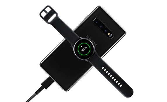 The Galaxy S10 models can charge another device while they themselves are being charged - Galaxy S10's PowerShare reverse charging speed test with Samsung Buds and Watch Active