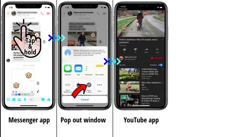Messenger app - Facebook and Messenger: how to open links in external browser