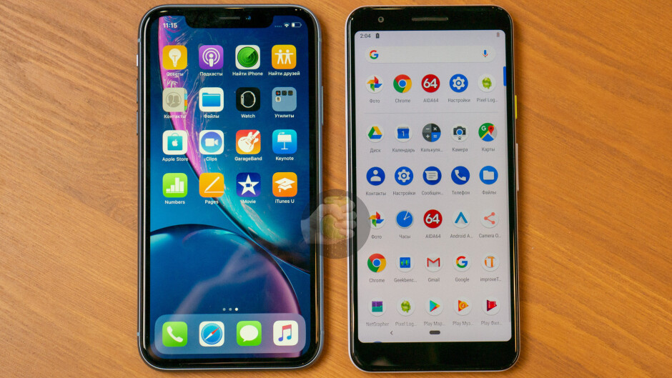 """iPhone XR vs Google Pixel 3a; photo via Wylsa.com - Android boss teases """"unreleased phone"""" - Google Pixel 3a may be launched soon"""