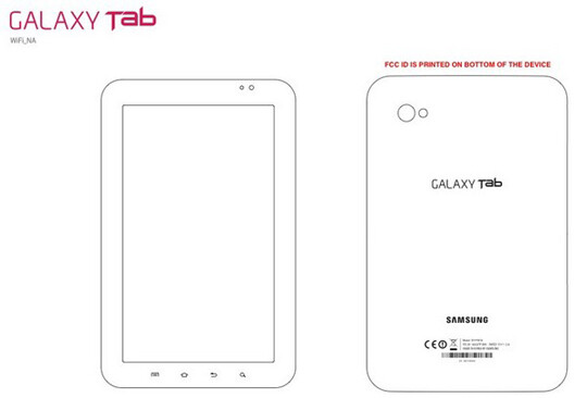 Wi-Fi only Samsung Galaxy Tab meets the FCC