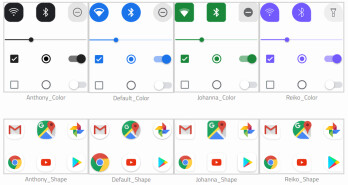 These are the customization overlays that will be available from the Pixel Themes app