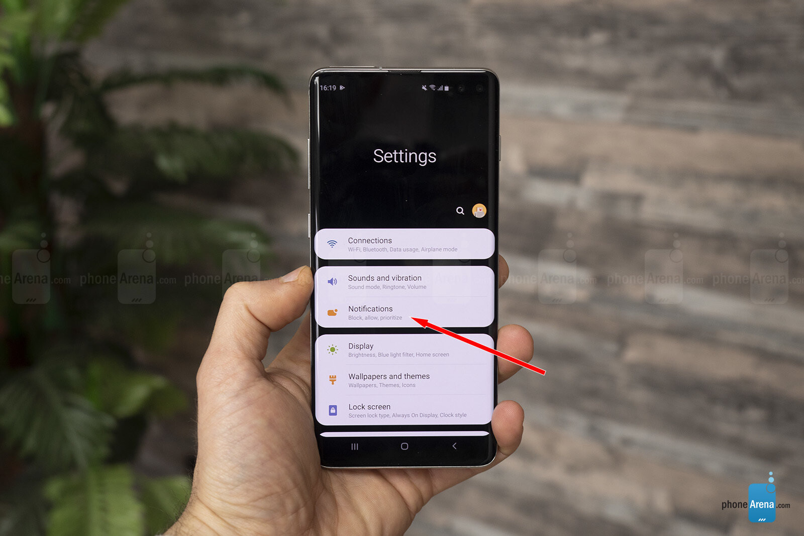 How To Show Battery Percentage On Galaxy S10 S10 Plus And S10e Phonearena