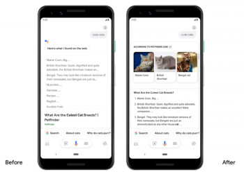 Update to Google Assistant includes new UI for search results