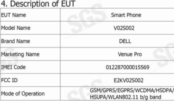 Dell Venue Pro is seen over at the FCC with support for T-Mobile 3G