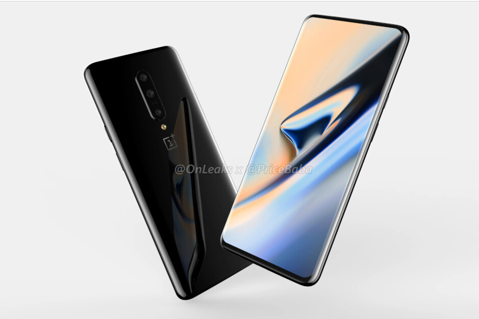 OnePlus 7 Pro CAD-based render - OnePlus 7 & 7 Pro detailed extensively: storage, battery, cameras, colors, much more