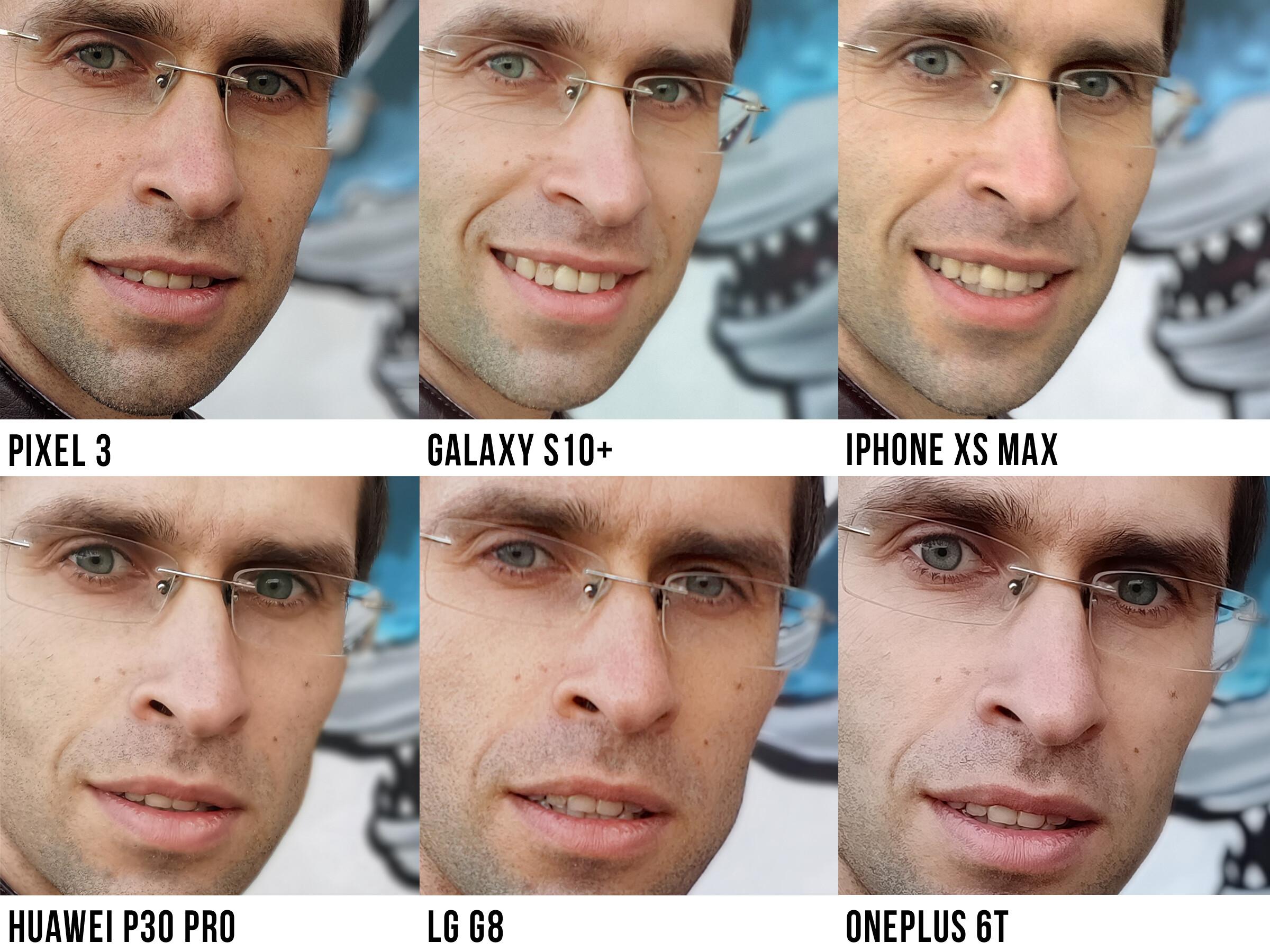 The BIG selfie comparison: Galaxy S10+ vs Pixel 3, LG G8, iPhone XS