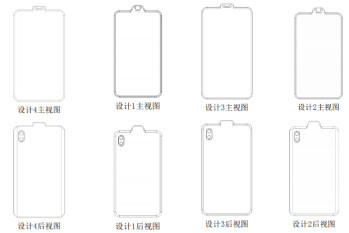 Different inverted notch smartphone designs