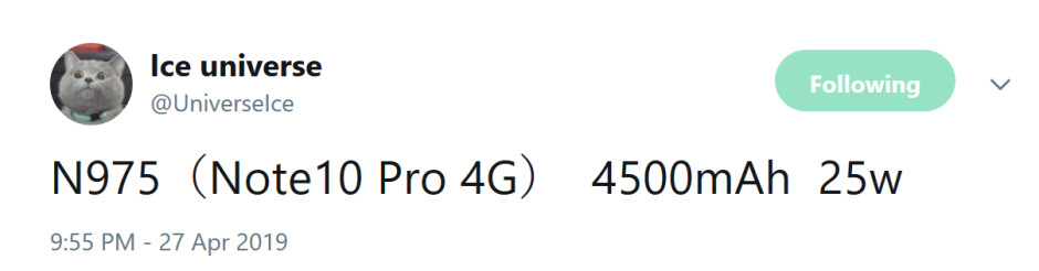 25W fast charging is tipped for the Galaxy Note 10 Pro - Expect long battery life for the 4G Samsung Galaxy Note 10 Pro