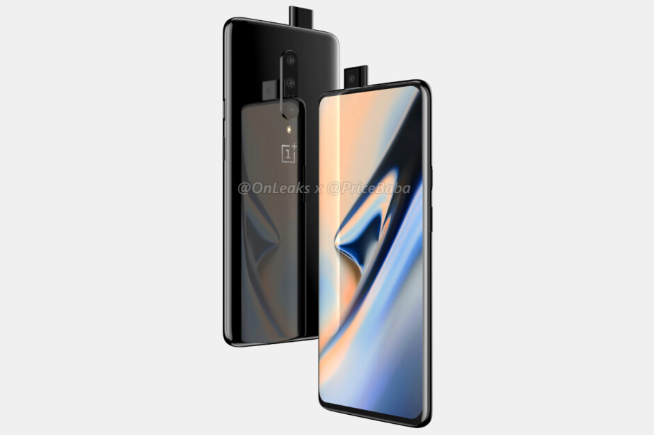 """OnePlus 7 Pro CAD-based rende - OnePlus 7 Pro newspaper ad confirms """"no notch,"""" teases other features"""