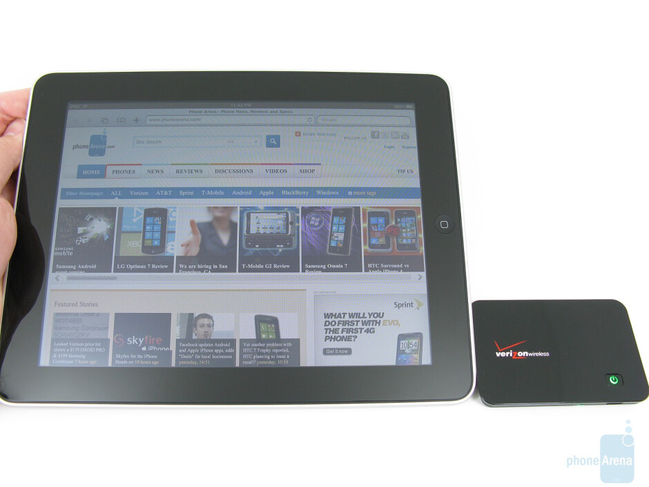 Verizon has not changed the iPad in any way - Apple iPad and MiFi 2200 bundle for Verizon Hands-on