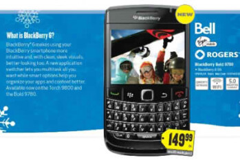 BlackBerry Bold 9780 is coming to Best Buy Canada