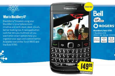 BlackBerry Bold 9780 is coming to Best Buy Canada - BlackBerry Bold 9780 is coming to Best Buy Canada on November 9th for $149.99