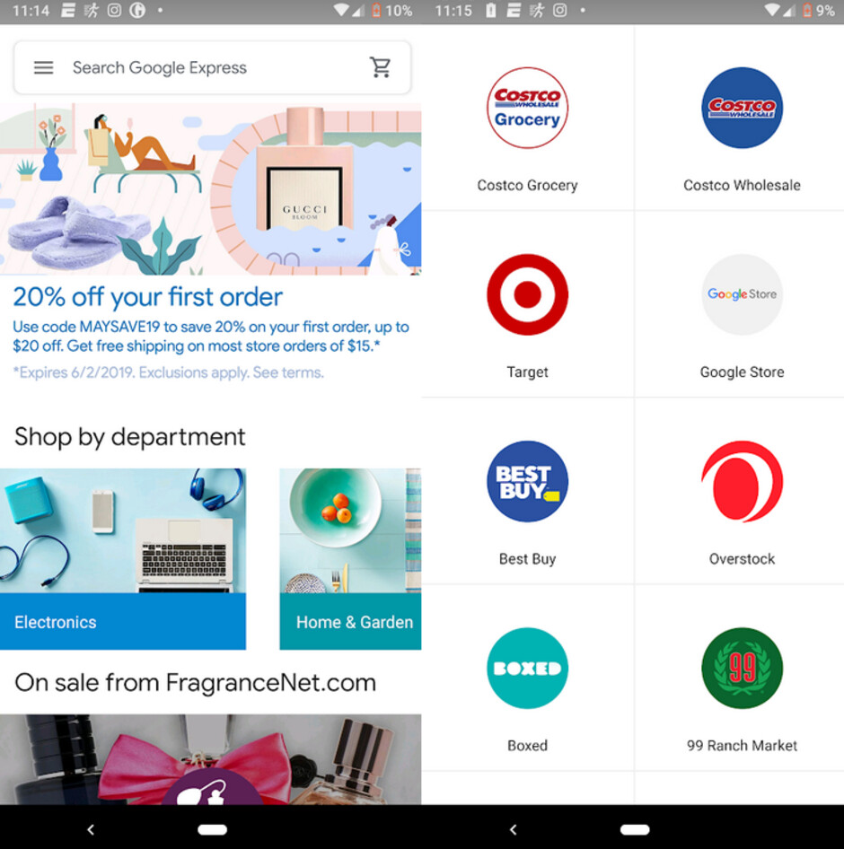 Google wants to challenge Amazon by rebranding the Express app - Google looks to take on Amazon by rebranding its Express storefront app