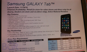 Upcoming at Sprint-The LG Optimus S, the  Sanyo Tahoe (L) and the Samsung Galaxy Tab (R)