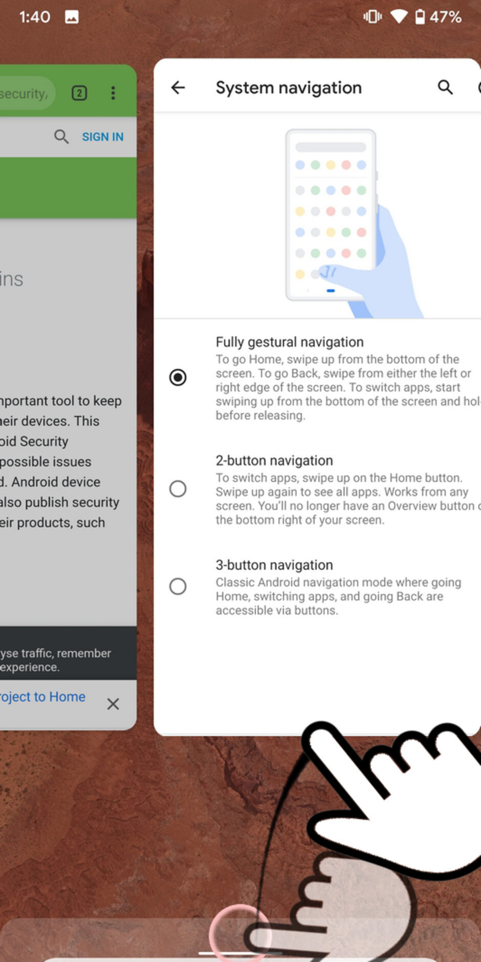 Google's iPhone-like gestures will become mandatory in Android Q