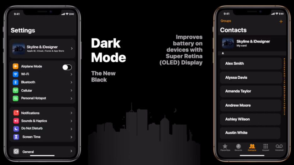 Design mockup of Dark Mode in iOS 13 - What to expect from Apple's WWDC event in June 2019: iOS 13, watchOS 6, macOS 10.15