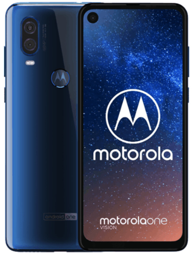 Press render of the Motorola One Vision - Massive leak of Motorola One Vision press renders leaves nothing to the imagination