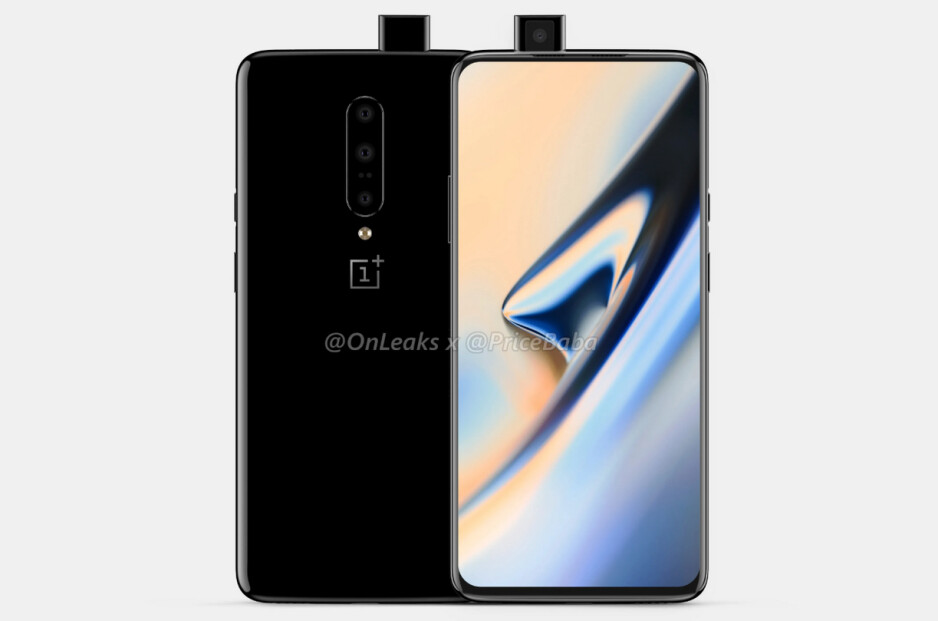 Render of the OnePlus 7 Pro - Huge leak of official cases for the OnePlus 7 and 7 Pro confirms major differences between the two