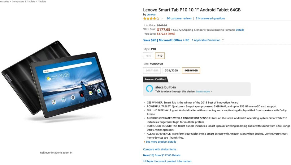 Lenovo Smart Tab P10 scores 49 percent discount with tablet and smart display functionality