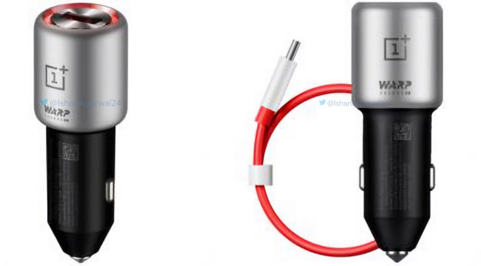 Official render of the OnePlus Warp Charge 30 Car Charger - Official renders leak of some OnePlus 7 and 7 Pro accessories including the Bullets Wireless 2