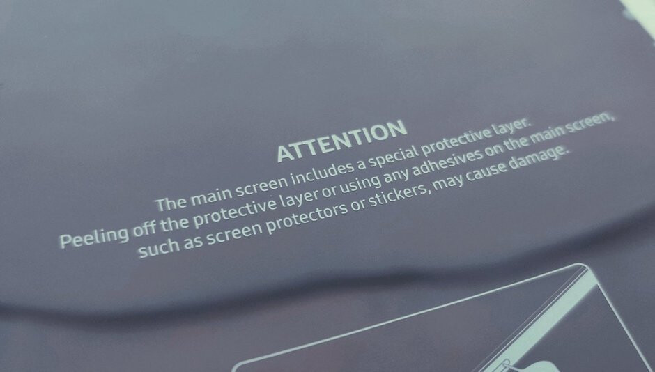 Samsung included this warning on the Galaxy Fold units sent to influencers - Changes made to the Samsung Galaxy Fold should prevent a repeat of the previous issues