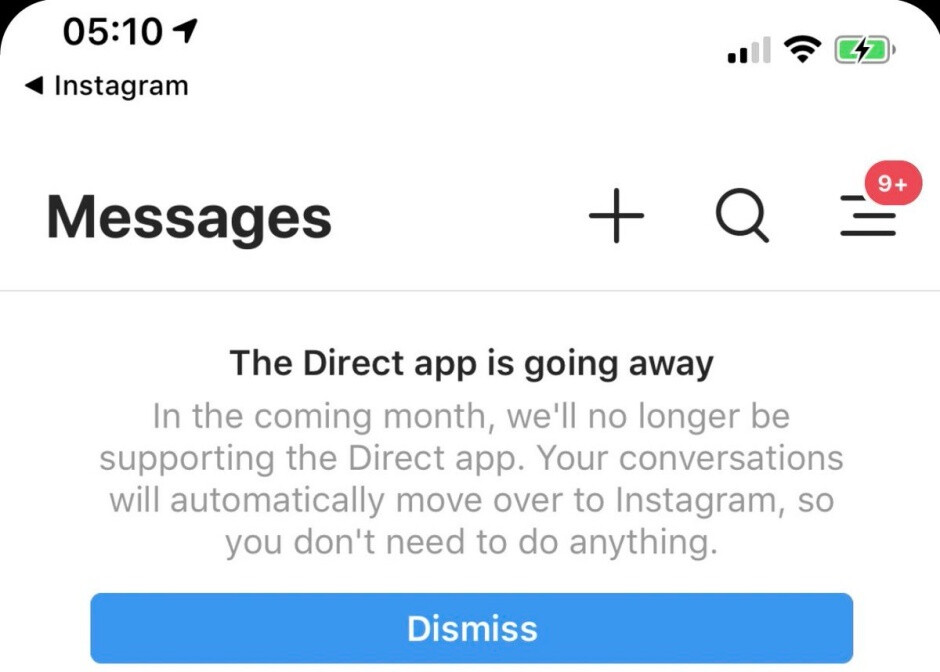 Instagram's standalone Direct app is 'going away', but its core feature will live on