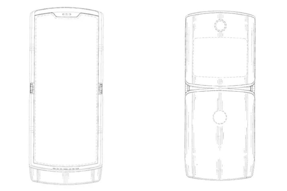 Illustration from Motorola patent filing - Lenovo shares a surprising 33 second video about the Motorola RAZR