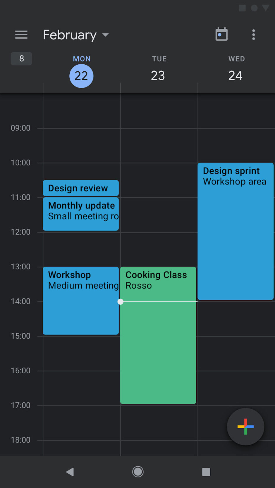 Google Calendar dark mode - Google Calendar update adds Dark Mode on Android