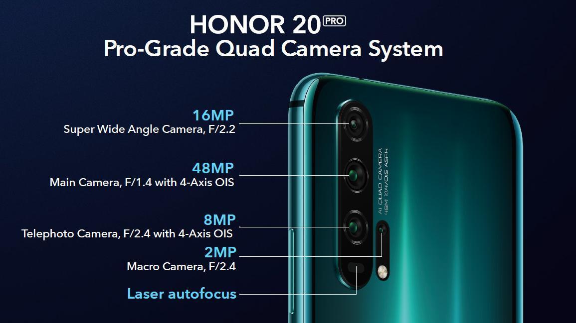 Honor unveils affordable, high-end quad-camera smartphones