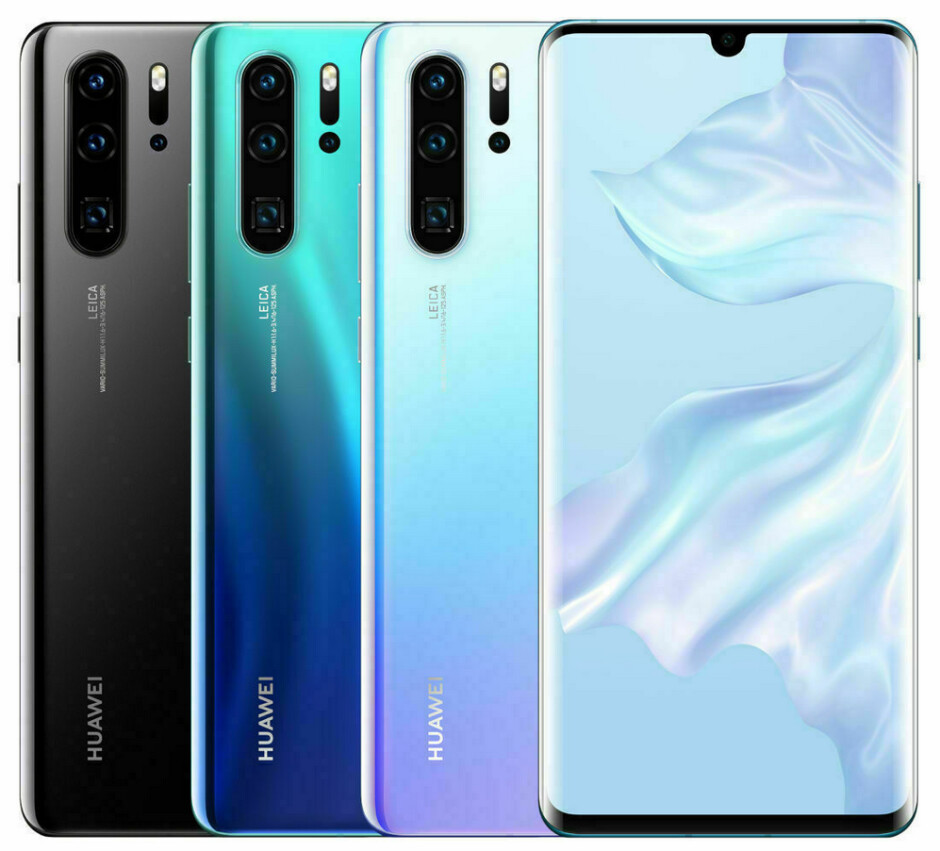 Huawei's current high-end phone, the P30 Pro - Google follows the Trump administration and gives Huawei a temporary reprieve