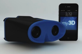 Hasbro's my3D will allow images on the Apple iPhone screen to be viewed in 3D