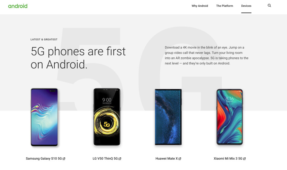 Before & after - Google just removed the Huawei P30 Pro & Mate X from Android's website
