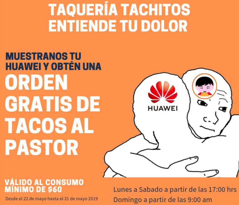 Those with a Huawei phone can get a free Taco meal at a restaurant in Mexico - Here's some good news for those who own a Huawei phone