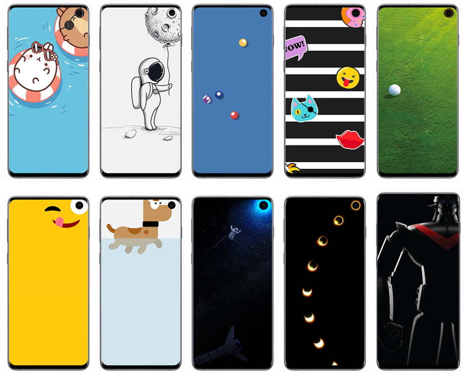 Additional wallpaper options for Samsung's Infinity-O phones - Samsung teams with Disney and Pixar to hide the punch-hole on the Galaxy S10