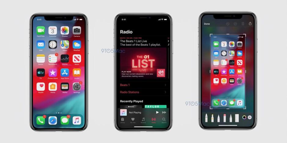 Leaked iOS 13 screenshots showcase Dark Mode, updated apps