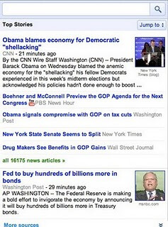 Expanded view - Google News for mobile gets an update