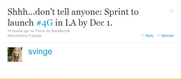 Good news for Sprint customers in Los Angeles waiting for 4G service - Lights, Camera, Broadband! L.A. to get 4G from Sprint on December 1st