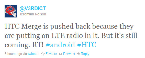 Rumor: HTC Merge delayed to receive LTE radio, Incredible HD to be LTE also