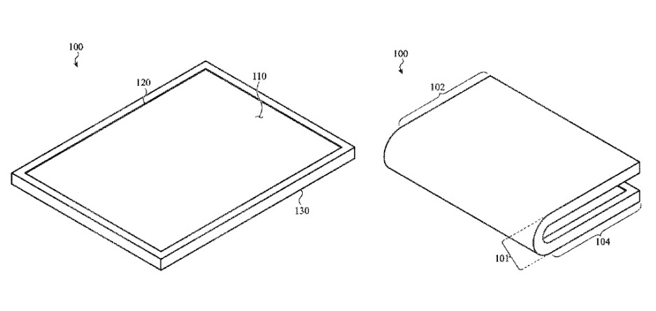 Another illustration from the same patent shows an inward closing foldable iPhone - Apple's new patent for a foldable iPhone shows something in common with the Galaxy Fold
