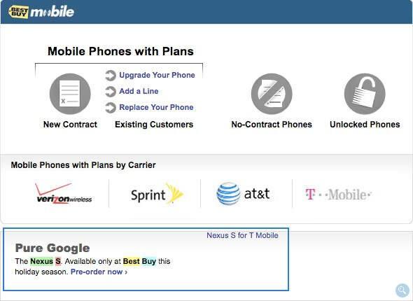 Google Nexus S briefly appeared on Best Buy's web site - Nexus S for T-Mobile briefly appeared on Best Buy's web site
