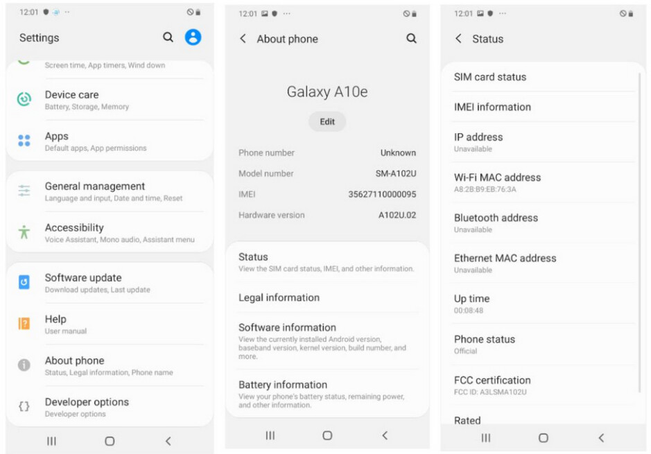 The FCC e-label for the Samsung Galaxy A10e - FCC certifies a new entry-level Samsung phone