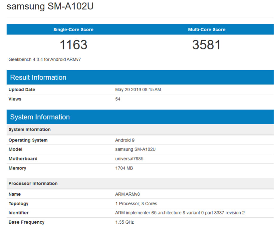 The Samsung Galaxy A10e has some of its specs revealed on Geekbench - FCC certifies a new entry-level Samsung phone