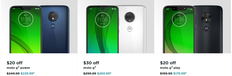 The Moto G7, G7 Power, and G7 Play are now all discounted at Motorola